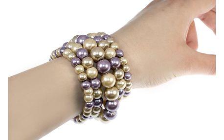 Fashion Icon dámský náramek perly pět řad