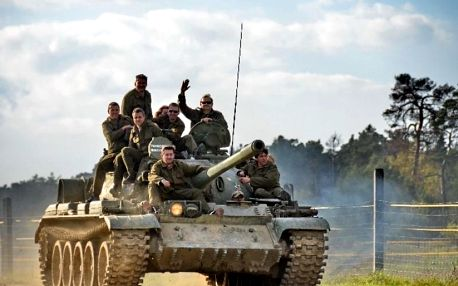 Řízení obrněného bojového tanku T-55