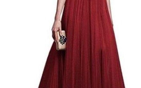 Společenské šaty s tříčtvrtečním rukávem - Černá-velikost č. 6 - dodání do 2 dnů