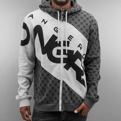 Dangerous DNGRS / Zip Hoodie Veli in grey 6XL