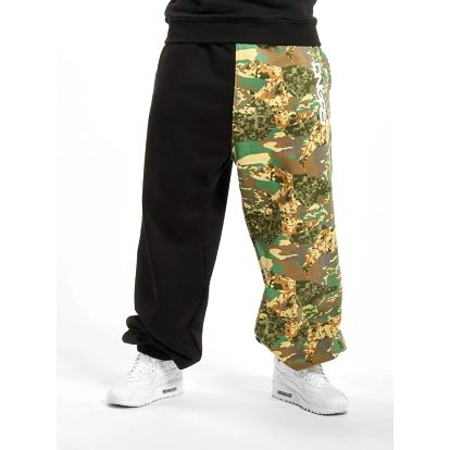 Dangerous DNGRS / Sweat Pant Two-Face in black S