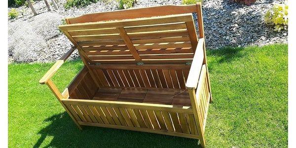 Dřevěná lavice s úložným prostorem Edita, 120 x 57 x 90 cm3