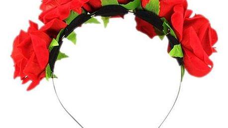 Květinová čelenka - Světle Růžová - dodání do 2 dnů