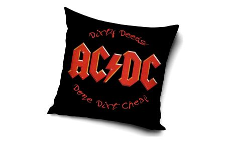 TipTrade Povlak na polštářek AC/DC Dirty Deeds, 45 x 45 cm