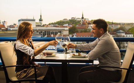 Romantická večeře s výhledem Brno v restauraci Sunset