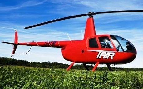 Let vrtulníkem Brno až pro 3 osoby