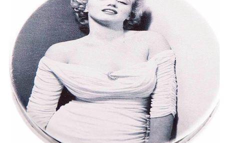 Kapesní kulaté zrcátko Marilyn Monroe White dress kovové