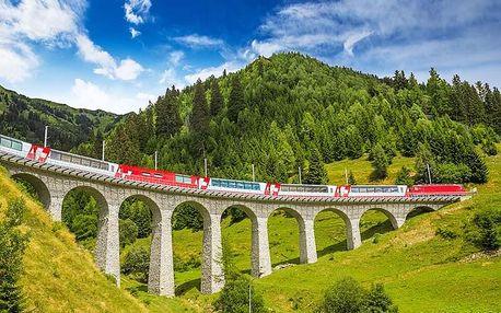 Výlet do Švýcarska s projížďkou vlakem Bernina Express mezi alpskými velikány pro JEDNOHO