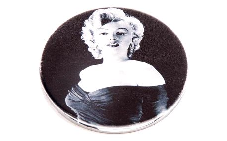Kapesní kulaté zrcátko Marilyn Monroe Smile kovové