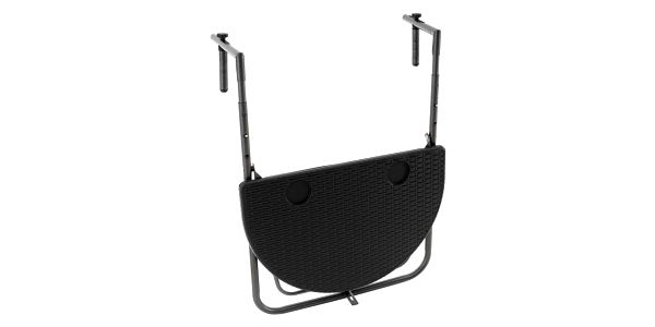 Garthen Závěsný sklopný stolek ratanového vzhledu - černý2