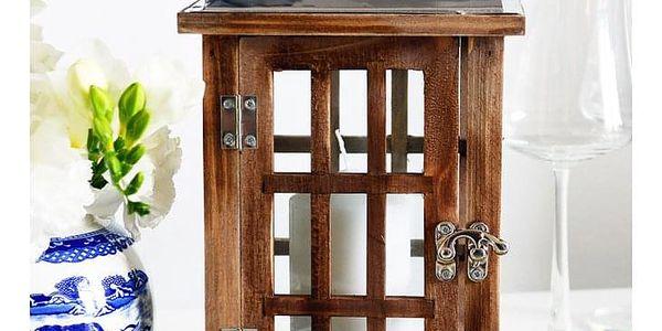 Home Styling Collection Dřevěná lucerna SVÍTILNA2