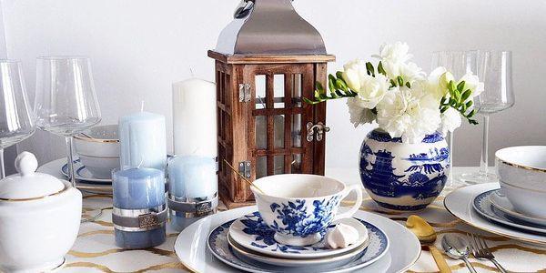 Home Styling Collection Dřevěná lucerna SVÍTILNA3