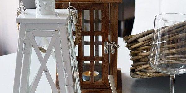 Home Styling Collection Dřevěná lucerna SVÍTILNA4