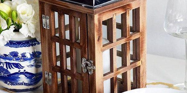 Home Styling Collection Dřevěná lucerna SVÍTILNA5