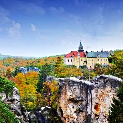 Jaro na zámku Hrubá Skála s wellness a polopenzí