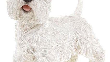 Westík v bílé barvě, polyresinová dekorace ZP2221