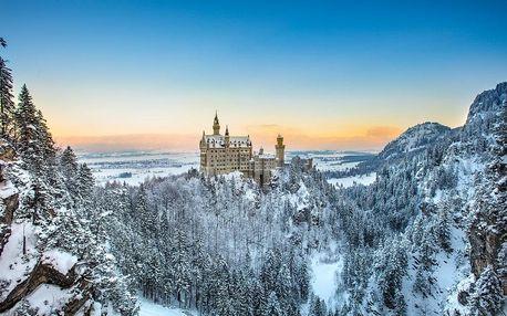 Pohádkový zámek Neuschwanstein a vánoční trhy v Regensburgu, Bavorsko