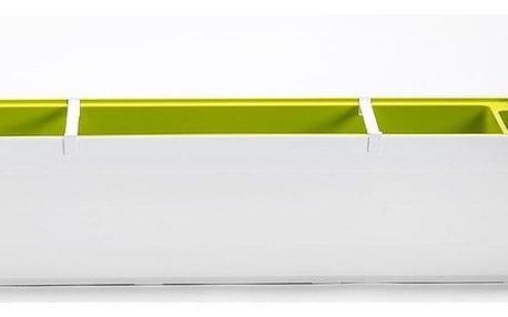 Plastia Samozavlažovací truhlík Berberis 80, bílá + zelená