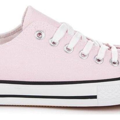 Timelook fashion Růžové oldschool tenisky XL03P.PI Velikost: 39 (24,5 cm)