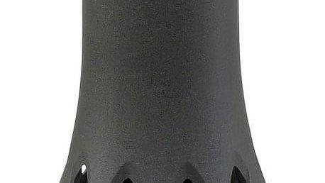 Hřbitovní váza Roseta 1,3 l se zátěží, antracit, Plastia