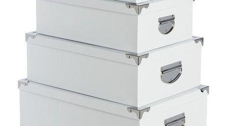 Atmosphera Créateur d'intérieur Úložné boxy na drobnosti v bílé barvě, šest kusů v sadě