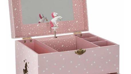 Emako Kazeta s hrací skříňkou a zrcadlem je ideálním místem pro poklady každé malé princezny.