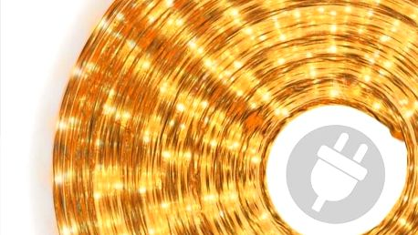 Nexos Světelný kabel - 720 minižárovek, 20 m, žlutý