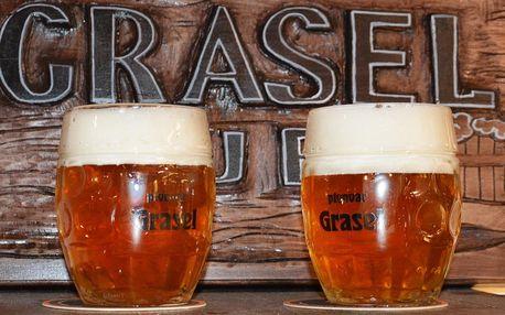 Dvě velká piva Vladyka 11° z pivovaru Grasel