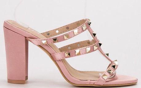 SDS Pantofle na podpatku 7080-GL-P Velikost: 39 (25,5 cm)