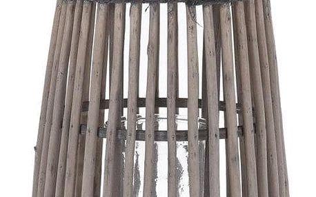 Home Styling Collection Praktická vrbová lucerna, Skleněná skleněná svíčka z vrbového dřeva, Držák na přenášení, Odpružení, Hnědá