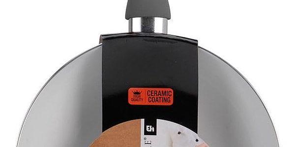 EH Excellent Houseware Porcelánová pánev WOK, průměr 24 cm, barva šedá2