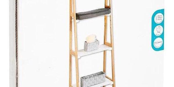 5five Simple Smart Regál koupelnový Bambou - bambusové dřevo, 4 úrovně4