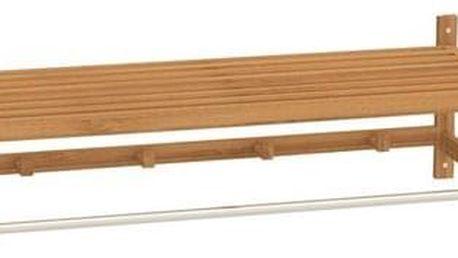 Tempo Kondela Police s tyčí a háčky Lela 2, přírodní bambus