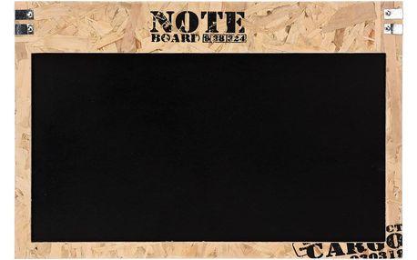 Emako Dřevěná poznámková tabule, černá, 60x40 cm