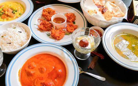 Chuť Indie: hlavní jídlo i 3chodové menu pro dva