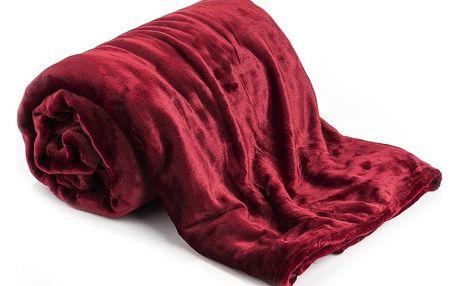 Jahu Deka XXL / Přehoz na postel červená, 200 x 220 cm