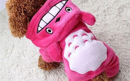 Teplý obleček s oušky pro pejsky - Růžová - 6 - dodání do 2 dnů