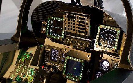 Let na simulátoru stíhačky F/A-18 Hornet