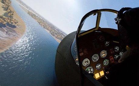 Let na simulátoru Spitfire