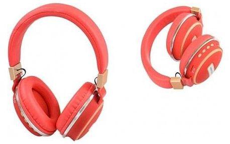 Bezdrátová sluchátka Shock červená
