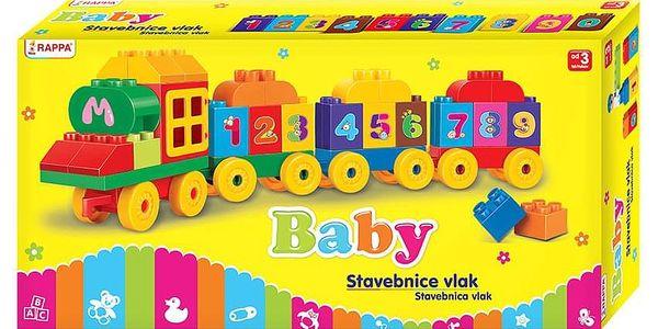 Baby Stavebnice Vlak s čísly, 63 ks3