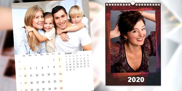 Nástěnný fotokalendář z vlastních fotografií 3 + 1 zdarma2