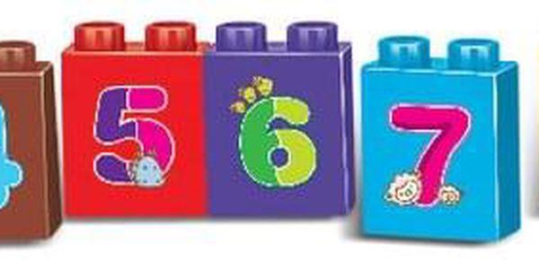 Baby Stavebnice Vlak s čísly, 63 ks5