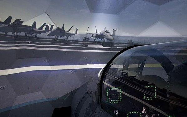 Let na simulátoru stíhačky F/A-18 Hornet   Brno   Celoročně.   45 min. let + instruktáž.5