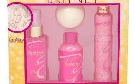 Britney Spears Fantasy dárková kazeta pro ženy vlasová mlha 100 ml + šumivá koule do koupele 75 g + sprchový gel 95 ml + sůl do koupele 100 g