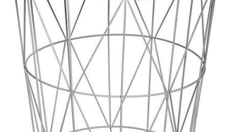 Atmosphera Kulatý konferenční stolek Gris Kumi prolamovaný z MDF a kovu, šedý
