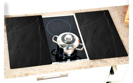 sada skleněných desek 2 prkénko, kuchyňské desky, kuchyňské doplňky, 2 ks, břidlice, Kesper