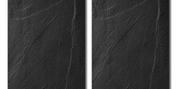 sada skleněných desek 2 prkénko, kuchyňské desky, kuchyňské doplňky, 2 ks, břidlice, Kesper2