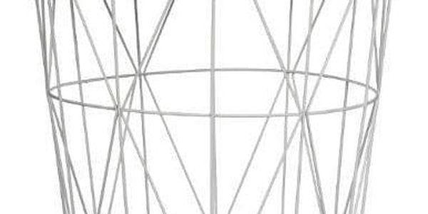 Atmosphera Kulatý konferenční stolek Gris Kumi prolamovaný z MDF a kovu, šedý2