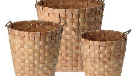 Home Styling Collection Koše pro skladování, 3 ks, z pleteniny